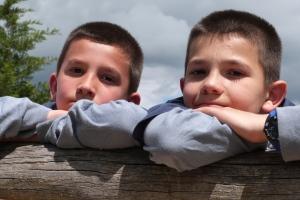 Carlos y Pablo, los mini-peregrinos